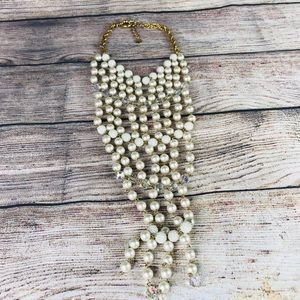 bebe Pearl and Gold Necklace Oversized